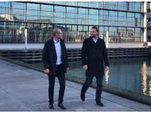 Per Falck Jensen, Managing Director, itelligence Danmark (tv) og Thomas Romanoff, Head of SAP S/4HANA Cloud, SAP Danmark (th)