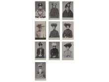 Voluminösa hattar på polisens mugshots från sekelskiftet 1900