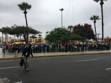 Kö till Optiker utan gränser, Peru 2017.