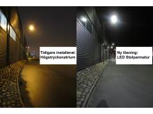 Göteborgs hamn miljösatsar - Synnerödsvägen får LED-bestyckad vägbelysning