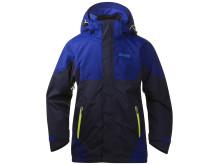 Evje Youth Jacket: Navy/Ink Blue/Citrus