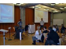 Erik Lystad , Gregersen AS underviser om HP Desingjet T920 på Arkitektur- og designhøgskolen i Oslo