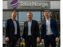 Einar Aaland fra StalkIT sammen med Jon Christian Hillestad og Frode Hegglund fra Telia Norge
