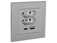 USB-Uttag Plus Alu