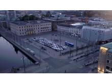 Installation på Gustav Adolfs torg