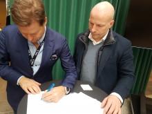 Signering av 3-årig avtale mellom 6.Sans og Spons- og Eventforeningen