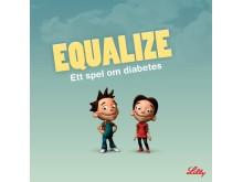 Equalize – ett dataspel om diabetes, bild framsida av broschyr