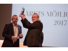 Årets möjliggörare Skellefteå Airport, Robert Lindberg tog emot priset