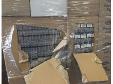 Op Fuzzy - seized cigarettes in warehouse