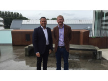 SVP Customer & Sales Benjamin Asplund of Lindorff Norway, together with Credit Manager  Tommy Henriksen of Optimera