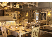 """The chic industrial look: the """"Anno 1743"""" restaurant, built into the historic walls of a former powder mill."""