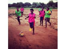 Futebol dá força träning i Zambia