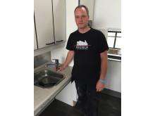 Teknisk ansvarlig Michael Fredskov, Musholm, med hansgrohe Focus 160 køkkenarmatur
