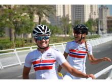 Andersen og Aalerud under sykkel-VM 2016