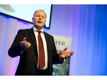Peter Viinapuu, VD MTR Nordic, talar vid Utmärkelsen Svensk Kvalitet