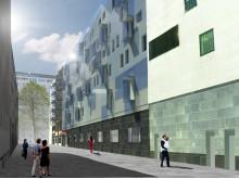 Glasfasad, Rubinen Lorensbergsgatan