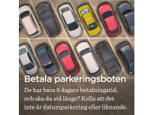 Betala parkeringsboten i tid
