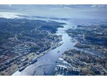 Göteborgs Hamninlopp från ovan