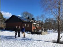 Villa i Björklinge med solceller uppkopplat mot det smarta elnätet i projekt VäxEl