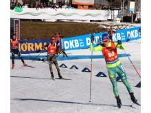 Världscuptävlingen i slovenska Pokljuka 10 dec.2