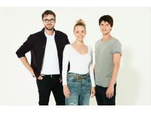 Fra venstre Johannes Nymark, Frederikke Vedel, Mikkel Moltke Hvilsom