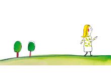 Let's talk, illustration kvinna och träd