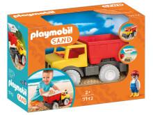 PLAYMOBIL-Muldenkipper bereit für den Einsatz im Sand!