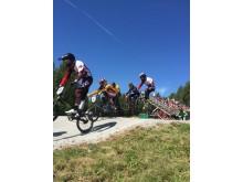 Actionbilde NM BMX 2016 utøvere