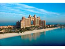 Det +5-stjernede Atlantis The Palm er et verdens mest luksuriøse hoteller på den kunstige ø Palm Jumeirah.