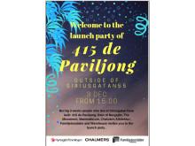 Välkommen på invigningsfest för 415 de Paviljong i Bergsjön!
