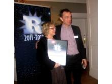 Pia Jansäter med Resumés chefredakör Viggo Cavling
