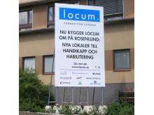 Fristående skylt Locum