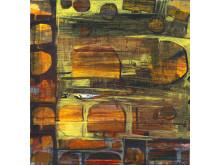 Höstglöd och molnskärvor, beskuren. Målning av Håkan Albeman