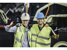 Electric Site - Joakim Käpynen, Skanska och Uwe Müller, Volvo CE