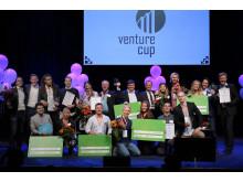 Samtliga vinnare från Venture Cups Sverigefinal 2018