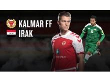 Kalmar FF möter Iraks OS-landslag 2 juli 2016.
