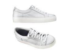 Klassiska skinnsneakers