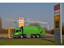 Verdens første Scania P 280 med Euro 6-gasmotor leveret til M. Larsen