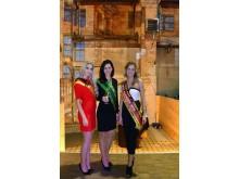 Soraya Kohlmann (Miss Sachsen 2017), Daniela Undeutsch (Sächsische Weinkönigin 2016) und Josephin Frenzel (Miss Sachsen 2015) begrüßten die Gäste im Kunstkraftwerk Leipzig