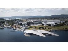 Wie Schären im Fjord: Der Entwurf für das neue Aquarium in Oslo.
