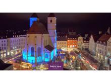 Christkindlmarkt an der Neupfarrkirche in Regensburg