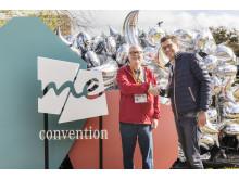 Roland Swenson, SXSW och Jens Thiemer, Mercedes-Benz tillkännager att nästa me Convention kommer att hållas i Stockholm i september.