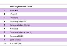 De 10 mest solgte mobiler i 2014