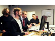 Närings- och innovationsministern, Mikael Damberg, besöker Transformator Design