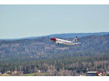 Norwegians LN-NOC efter take-off