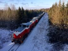 Kalktåg på Inlandsbanan