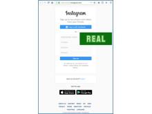Instagram, real