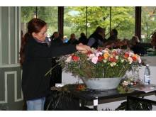 Carola Fogelberg i final på Interfloras SM i blomsterbinderi 2010