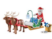 Im Rentierschlitten von PLAYMOBIL (9496) macht sich der Weihnachtsmann auf den Weg