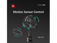 Zhiyun Crane 3 LAB 3 motion sensor control